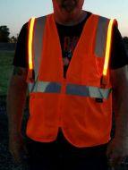 Illuminated LED Safety Vest With NO ID Panel