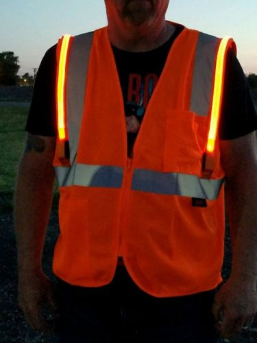 Illuminated LED Safety Vest With NO ID Panel